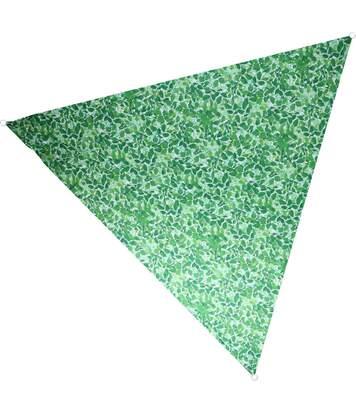 Voile d'ombrage triangulaire avec sac de rangement Motif feuilles