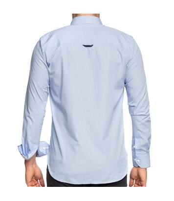 Chemise à petits carreaux manches longues