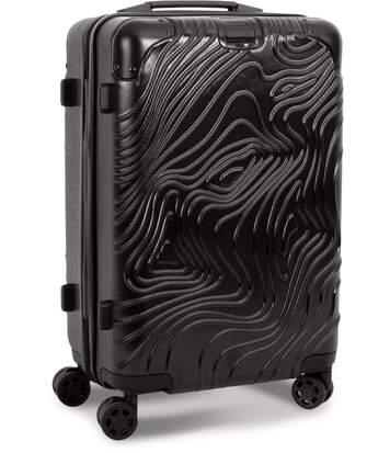 Valise cabine rigide trolley 4 roues - 50 litres - KI0838 - noir