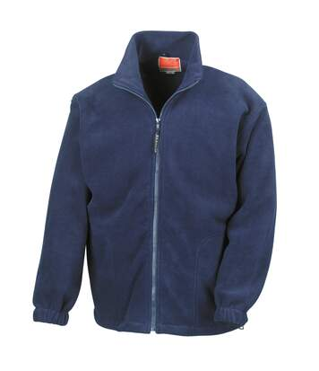 Result Mens Full Zip Active Fleece Anti Pilling Jacket (Navy Blue) - UTBC922