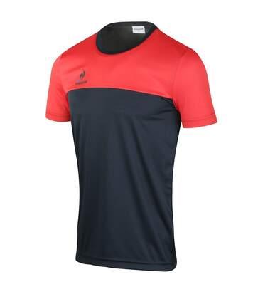 Maillot Match Homme Noir Rouge Le Coq Sportif