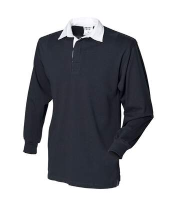 Front Row Mens Long Sleeve Sports Rugby Shirt (Black) - UTRW473