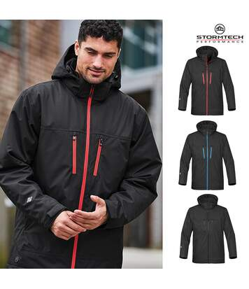 Stormtech Mens Matrix System Jacket (Black/Bright Red) - UTBC4116