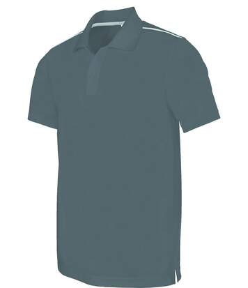 Polo homme sport - PA480 - gris - manches courtes