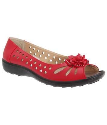 Boulevard - Chaussures D'été - Femme (Rouge) - UTDF445