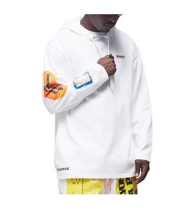 Sweat Blanc Homme Converse ROKIT X HOODIE