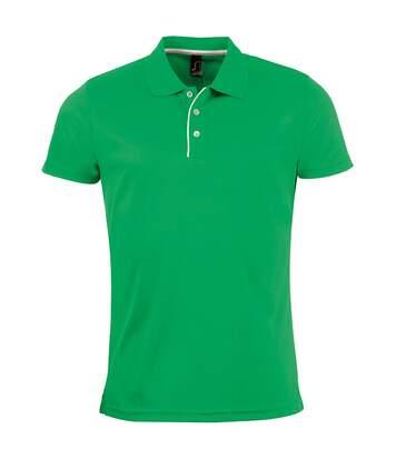SOLS Mens Performer Short Sleeve Pique Polo Shirt (Kelly Green) - UTPC2162