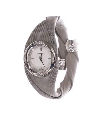 Montre Analogique Acier Gris Femme Nina Ricci 12 Diamants