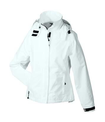 Veste hiver coupe vent imperméable femme JN1011 - blanc