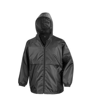 Result Mens Core Adult Windcheater Water Repellent Windproof Jacket (Black) - UTBC897