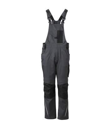 Pantalon de travail homme à bretelles - JN833 - gris - salopette artisan