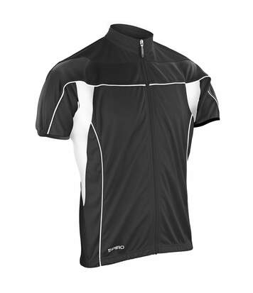 Spiro Mens Bikewear / Cycling 1/4 Zip Cool-Dry Performance Fleece Top / Light Jacket (Black/Black) - UTRW1484