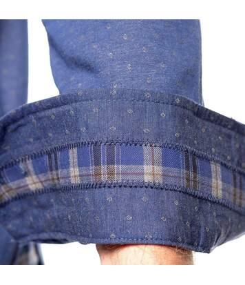 Chemise manches longues coudières carreaux