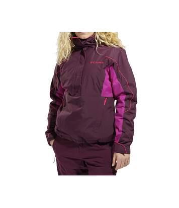 Anter Falls II Femme Veste de ski 1/2 zip Bordeaux