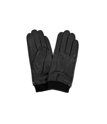 Eastern Counties Leather Mens Rib Cuff Gloves (Black) - UTEL234