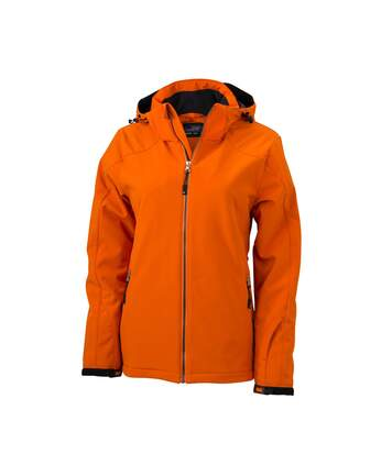 Veste softshell doublée - JN1053 - Orange - Femme - Sports d'hiver - Ski