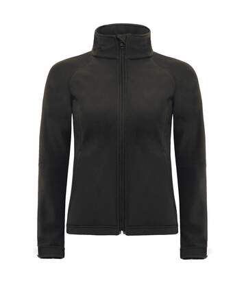 B&C Womens Hooded Premium Softshell Jacket (Windproof, Waterproof & Breathable) (Black) - UTBC2004