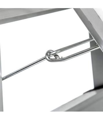 Marchepied Design 3 Marches 62cm Argent & Noir