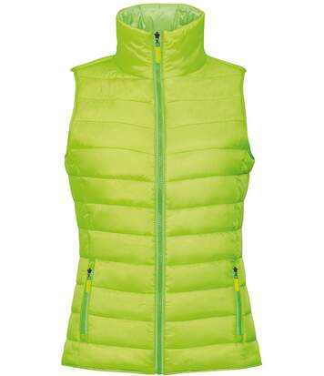 Doudoune sans manches femme - 01437 - vert lime