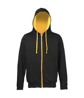 Awdis - Sweatshirt À Capuche Et Fermeture Zippée - Homme (Gris foncé/Noir) - UTRW182