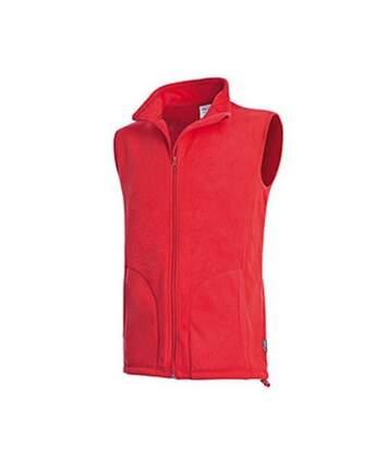Stedman - Veste Polaire Sans Manche Active - Homme (Rouge) - UTAB290