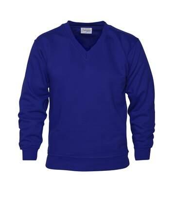 Absolute Apparel - Sweat-Shirt Col V - Homme (Bleu roi) - UTAB116
