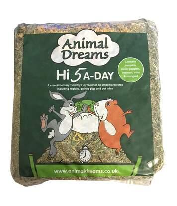 Animal Dreams Hi 5 A-Day - Foin Timothy (Peut varier) (Lit simple) - UTBT271