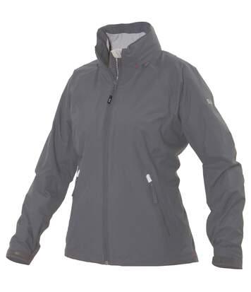 Slam Womens/Ladies Portocervo Lined Jacket (Waterproof And Windproof) (Steel/ Grey Lining) - UTRW4434