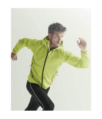 Regatta Activewear Mens Helsinki Powerstretch Jacket (Neon Spring Green) - UTPC3125