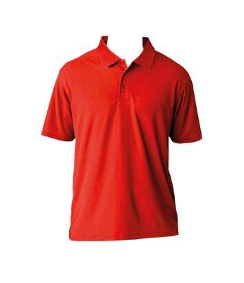 AWDis Cool Mens SuperCool Sports Performance Short Sleeve Polo Shirt (Fire Red) - UTRW2541