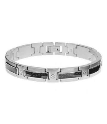 Bracelet Homme ROCHET modèle HYBRID Argenté - B501090A