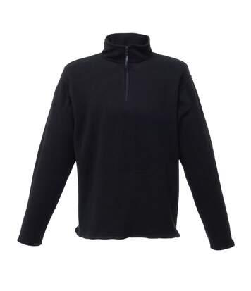 Regatta Mens Micro Zip Neck Fleece Top (170 GSM) (Black) - UTBC830