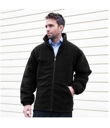 Result Core Mens Polartherm Fleece Jacket (Black) - UTBC909