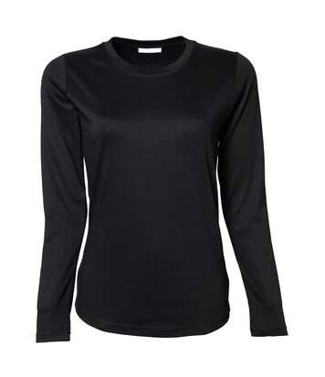 Tee Jays -  T-Shirt À Manches Longues 100% Coton - Femme (Noir) - UTBC3322