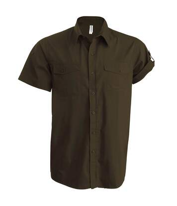 Kariban Mens Tropical Short Sleeved Casual Shirt (Capuccino) - UTRW724