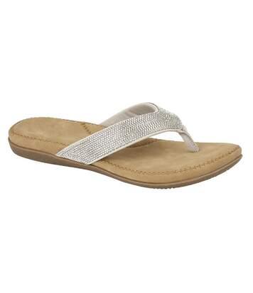Cipriata Womens/Ladies Alcee Diamante Sandals (Silver) - UTDF1592