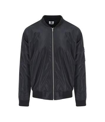 AWDis So Denim Mens Frankie Bomber Jacket (Black) - UTPC3676