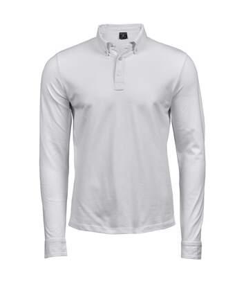 Tee Jays Mens Long Sleeve Fashion Stretch Polo (White) - UTBC4045