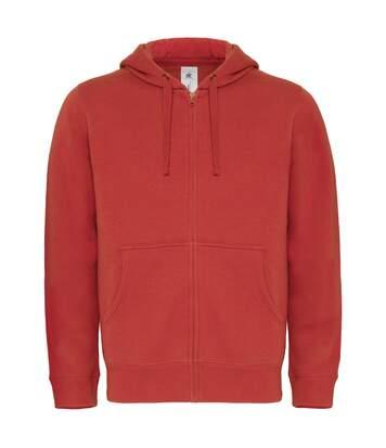 Sweat-shirt à capuche zippé - homme - WM647 - rouge