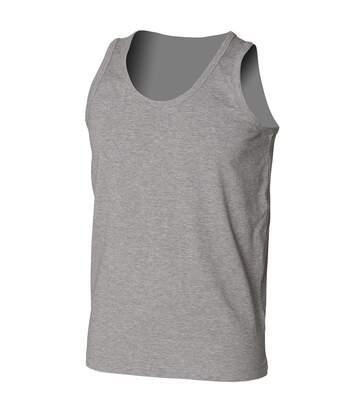 Skinni Fit Mens Stretch Tank Top / Vest (Heather Grey) - UTRW1385