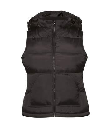 B&C Womens/Ladies Zen+ Hooded Waterproof Bodywarmer/Gilet (Black) - UTRW3039