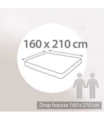 Protège matelas absorbant Antonin blanc 160x210