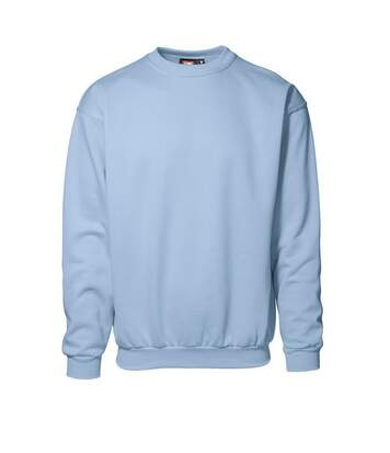 ID Unisex Classic Loose Fitting Round Neck Sweatshirt (Light blue) - UTID275