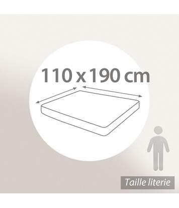 Protège matelas 110x190 cm ACHUA Molleton 100% coton 400 g/m2 bonnet 40cm