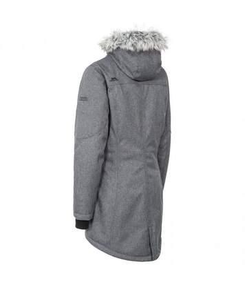 Trespass Womens/Ladies Thundery Waterproof Jacket (Black/Silver Grey) - UTTP3548
