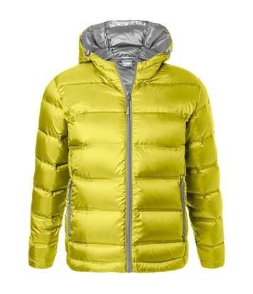 Doudoune homme à capuche - JN1152 - jaune