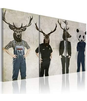 Paris Prix - Tableau l'homme Est Un Animal Comme Les Autres ! 80 X 120 Cm
