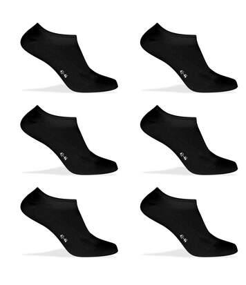 Lot de 6 Paires de Chaussettes socquettes en coton bio Noir