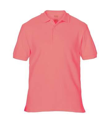 Gildan Mens Premium Cotton Sport Double Pique Polo Shirt (Coral Silk) - UTBC3194