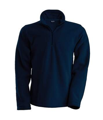 Kariban Mens Enzo 1/4 Zip Fleece Top (Navy) - UTRW738